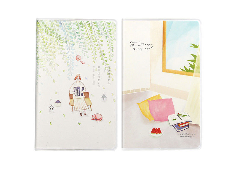 Novelty Custom Soft Cover Notebooks And Journals Frosted Plastic Book Cover
