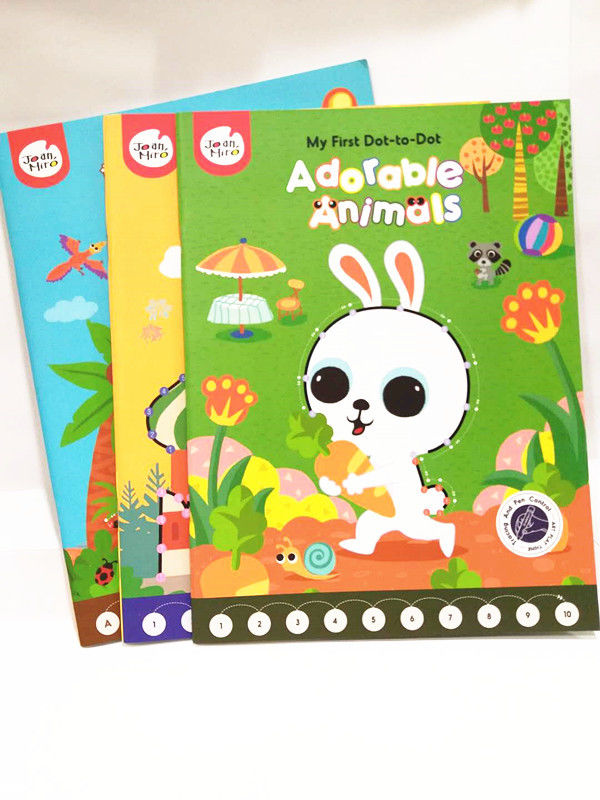 Hardback Childrens Book Printing , Baby Short Run Book Printing Glued Custome Binding