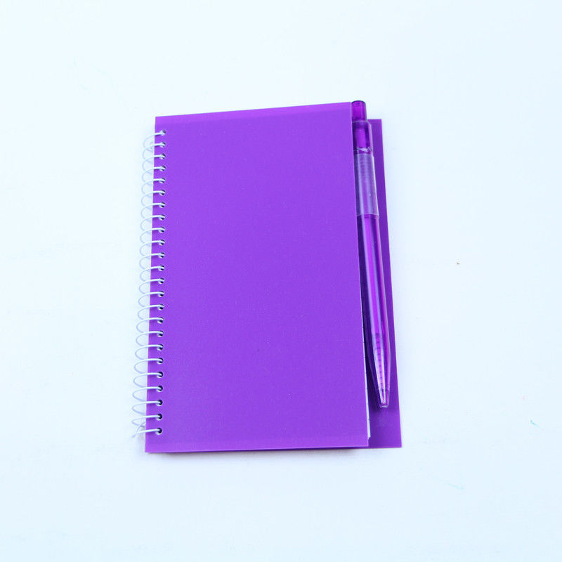 Lightweight Spiral Bound Book Printing Promotion Gift PP Notebook With Pen